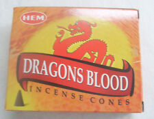 Hem Dragons Blood Incense Cones, Bulk Lot 12 Pack of 10 Cones, 120 Total!