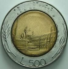 1988    Repubblica Italiana   500  lire    millesimo  tagliato