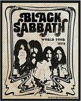 Black Sabbath World Tour 1978 sew-on cloth patch  (rz portrait)
