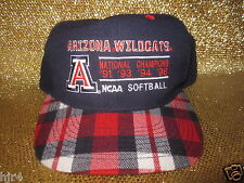 Arizona Wildcats 1996 NCAA Softball Champions CWS Hat NEW