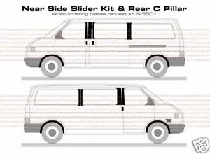 VW T4 Transporter B & C Pillar Decal Sticker