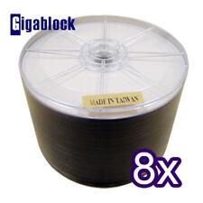 200pk White Inkjet Full Face HUB PRINTABLE DVD-R 1-8x