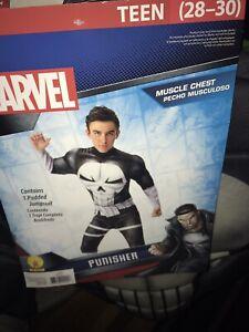The Punisher Marvel Superhero Teen (28-30) Costume Halloween Role Play
