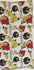 Angry Birds Twin Top Bed Sheet Mulitcolored Collectible Bedsheet Fabric Material