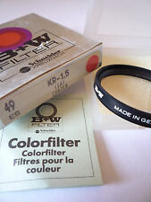 B + W LENS FILTER 49ES  KR - 1,5 1A COATED