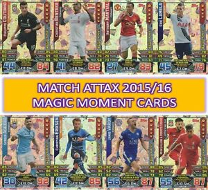 Topps Match Attax EXTRA 2015 2016 15/16 MAGIC MOMENT & MAN OF THE MATCH cards