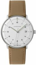 Junghans 041/4562.00 Max Bill Quartz Brown Leather Strap 38mm Case Watch