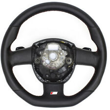 S-LINE Flattened Leather Steering Wheel With Rocker Switches Audi A4
