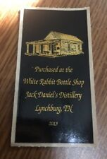 JACK Daniels- Purchased At The White Rabbit - Limited Edition Bottle Label 2013