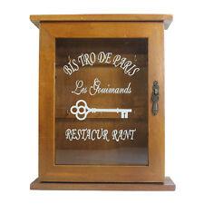 Retro Vintage Wood Key Holder Wall Mounted Key Rack Storage Cabinet Box Antique