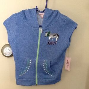 Juicy Couture Girls Sparkly Hooded Vest/ Size: S(7-8) NWT