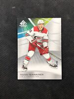 2019-20 UPPER DECK SP GAME USED TEUVO TERAVAINEN TRUE BASE SILVER #ed 20/86