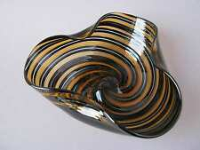 Glas Schale Murano Italy a canne 50er Design Venetian Glass Bowl Barovier Era