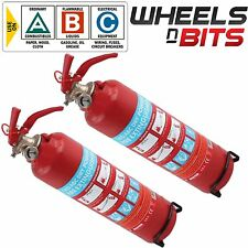 2x ABC DRY Powder 1KG Fire Extinguisher Mounting Bracket CAR Van Taxi Mini Bus