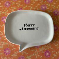 Trinket plate Jewelry Dish Your Awesome Irregular shaped Ceramic