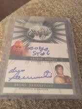 2014 Leaf Pop Century George Steele Bruno Sammartino Autograph AUTO WWE CARD