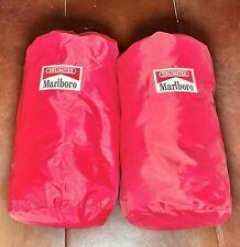 2x Unlimited Marlboro Fleece Camping Sleeping Bag Red & Black Buffalo Plaid