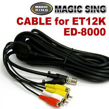 MAGIC SING Cable - 7 Pin RCA Cable for ET12K & ED-8000 - US Seller Free Shipping