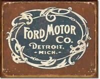 Ford Motors Metal Tin Ad Sign Picture Auto Shop Mechanic Garage Gas Decor Gift
