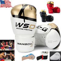 Pro Boxing Gloves For men kids Muay kickboxing Thai Training Punching  MMA 2 pcs