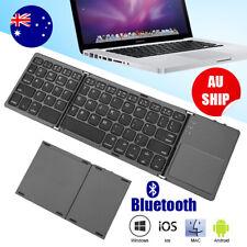 Tri-fold Wireless Folding Keyboard Bluetooth Foldable Mini Flexible TouchPad
