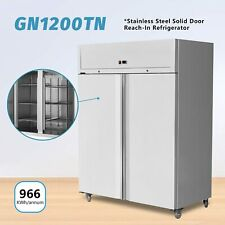 More details for clivia commercial 1150l double door upright freezer stainless steel refrigerator