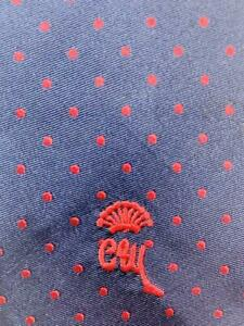COUNTESS MARA LOGO DARKBLUE RED DOTS SILK POLY BLEND NECKTIE TIE MAU0920A #Y04