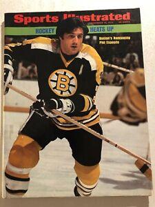 1973 Sports Illustrated BOSTON Bruins PHIL ESPOSITO Hockey Heats Up NO LABEL Orr
