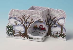 Christmas On The Farm 3D Cross Stitch Card Kit