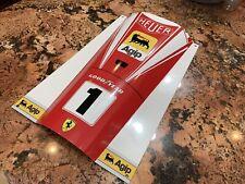 WOW!!!Curved FORMULA 1 F1 Ferrari Racing sign Race Car nose Style NIKI LAUDA
