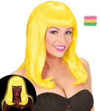 Payton Neon Perücke gelb NEU - Karneval Fasching Perücke Haare