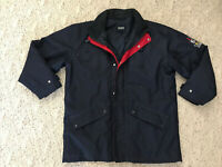 Mens Aigle Sailing Jacket Coat Navy Blue Size Large Or XL red