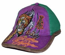 Christian Audiger Forever Kids Green & Purple Youth Tiger Style Cap Hat 6-13 yrs