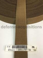 1.5 Inch MilSpec Military Webbing MIL-W-43668 T/6 MARPAT (COYOTE) Per Yard
