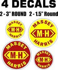 4 Massey Harris Vinyl Decals