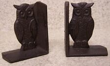 Bookends Bird Owl cast iron Pair Book Ends NEW