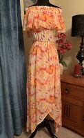 Nordstrom Off The Shoulder High Low Sexy Maxi Dress Size XS