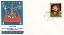(86056) Barbuda Philart FDC Kings & Queens Henry IV -  15 August 1970
