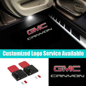 2Pcs Wireless Car Door LED GMC CANYON Welcome Laser Projector Shadow Lights