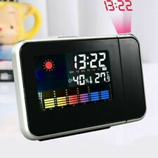 Digital LED Projection Alarm Clock Weather Thermometer Snooze Backlight Calendar