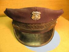 Vintage Woodville Ohio Fire Department Cap Hat w Badge KANT KRACK 7-3/8
