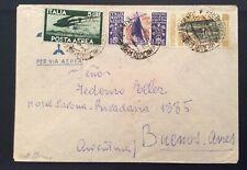 1948 VIA AEREA X ARGENTINA S.CATERINA L.100+L.30+L.5 AEREA DEMOCRATICA B3-25