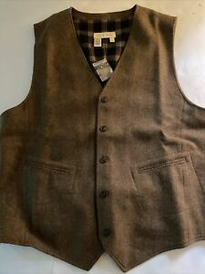 Territory Ahead Men's Washable Wool Suit Tailored Vest Large
