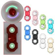 LED Lights Fidget Hand Finger Spinner Metal Alloy EDC Focus Stress Relief Toys