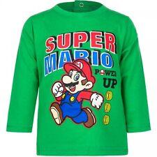 Super Mario  Power up  Langarmshirt in grün für Babys