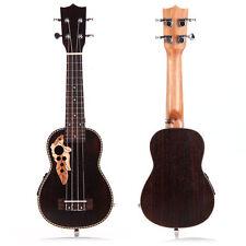 """21"""" Professinal Soprano EQ Electro-Acoustic Ukulele Uke Rosewood Hawaii Gift"""
