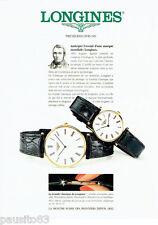 PUBLICITE ADVERTISING 056  1994  Longines montre la grande Classique