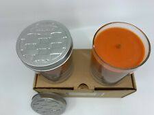 Longaberger Pumpkin Pie Candle Jars Set of 2 Nib - Fall Autumn Halloween