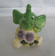 Old Tupton Elephant Butterfly Sitting Figurine * New in Box *