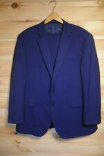 "Jaeger Blue Two Piece Suit 46S 40"" Blue/Black Short"